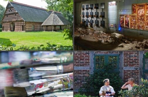 Collage aus verschiedenen Museumsbildern